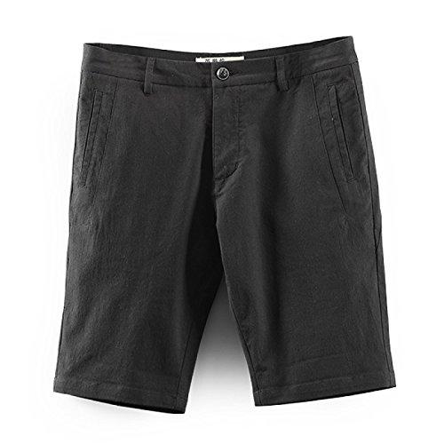 5 Aire Verano Medianos Cortos Pantalones Los Breechcloth Libre De Casuales La Moda Al Delgados Sandy Black Kino Para Hombres Playa T8Tzqtf