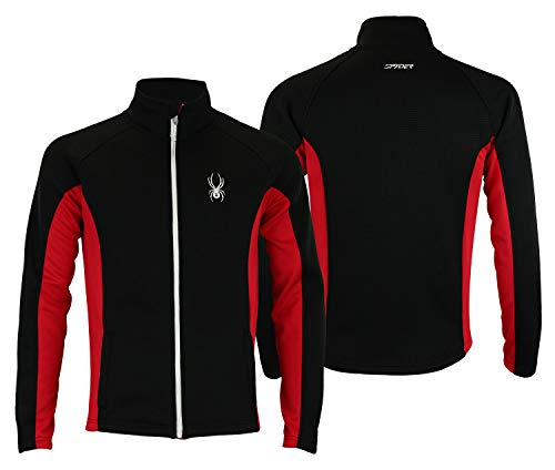 Multi Embroidered Jacket (Spyder Mens Full Zip Sweater Multi Blk-Red L)