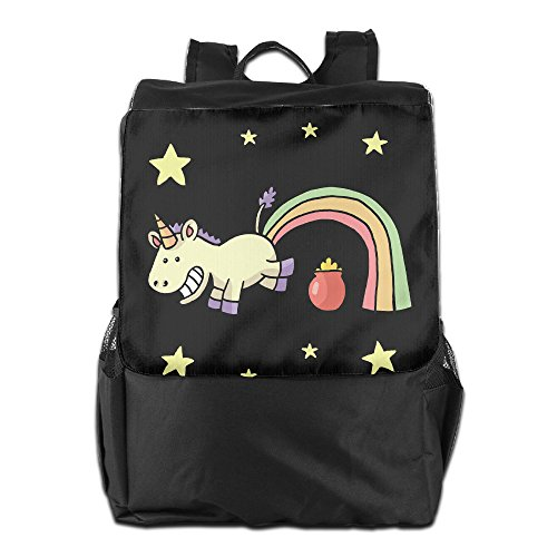 Price comparison product image Benpo Rainbow Farting Unicorn Folks Outdoor Backpack Lightweight Fashion School Bag Casual Large Shoulder Book Bags One Size