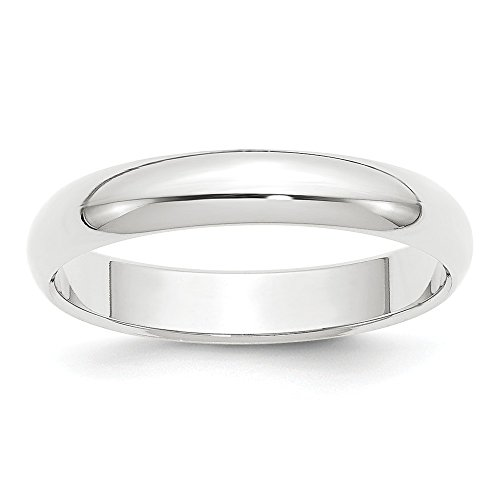 Platinum 4mm Half-Round Wedding Band Size 7.5 by Diamond2Deal (Image #2)