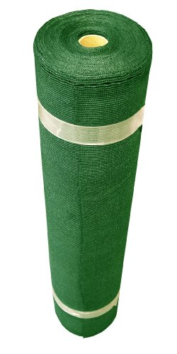 Coolaroo Medium Shade Fabric Roll, 12' x 50', Forest Green -