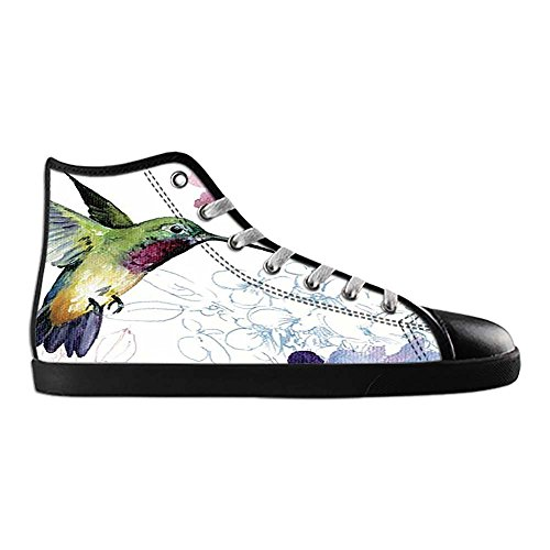Dalliy Hummingbird And Flower Mens Canvas shoes Schuhe Lace-up High-top Sneakers Segeltuchschuhe Leinwand-Schuh-Turnschuhe C