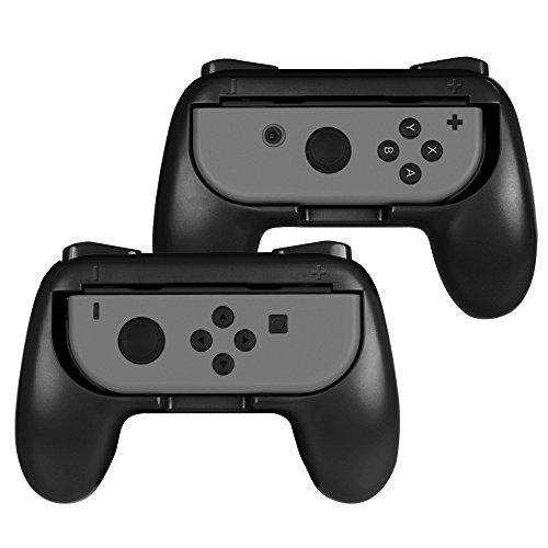 - Fintie Grip for Nintendo Switch Joy-Con, [Ergonomic Design] Wear-Resistant Comfort Game Controller Handle Kit for Nintendo Switch Joy Con (2-Pack), Black