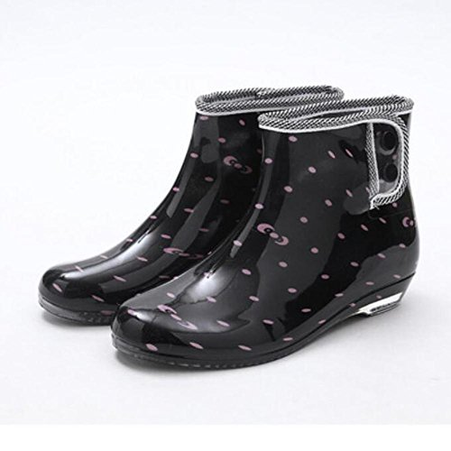 Schuhe Stiefel Herbst Regen Damen und Slip kurze Stiefel Garten 2 Frühling Schuhe Gelee fP1Ungxwwq