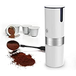 YLEI Electric Portable Espresso Coffee Maker, Compact Coffee Machine, Compatible with K-Cup Capsule, Battery and USB Charging, Perfect for Travel, Home, Camping
