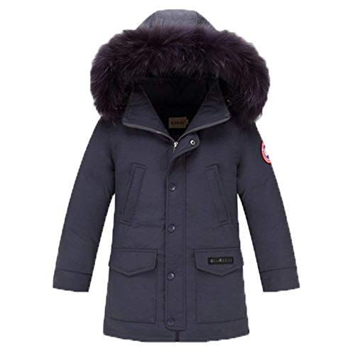Down Men Jacket Trench Winter Boys Jacket Boys Hooded Thickened Young Boys Grau Unisex Coat Thickened Coat Fashion Dchen Outerwear Winter zxg5fI