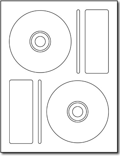 2up Memorex-Style CD Labels - 100 Sheets/200 Labels - Desktop Publishing SuppliesTM Brand Labels