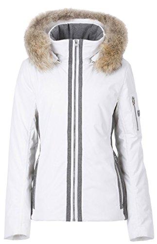Fera Danielle Real Fur Ski Jacket 2017, White Cloud/Gray, (Fera White Jacket)