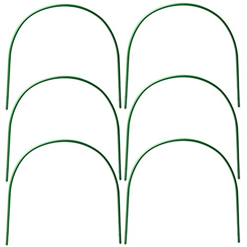B&P Portable Garden Hoops Hoop Greenhouse Plant Hoops, Rust-Free Grow Tunnel 4ft Long Steel with Plastic Coated Hoops,Greenhouse Support Hoops for Garden Hoop,6Pack (Arch Size: 18.5'' H x 19.6'' W) by B&P (Image #6)