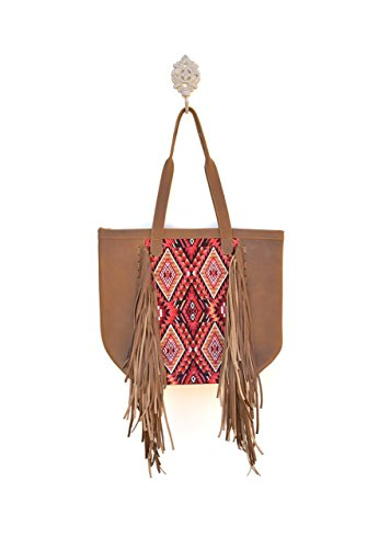 Vintage Mayan Textile Fringe Tote Purse - No. 142 by Bonita PiNa