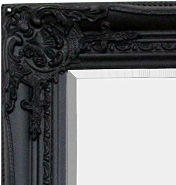 45x130cm Mat/ériau et Design Premium Noir Shabby Chic Miroir Baroque orn/é Mustdunet Miroir Confection Artisanale Psych/é