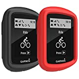 TUSITA Case for Garmin Edge 130 GPS – Silicone Protective Cover Skin – GPS Bike Computer Accessories