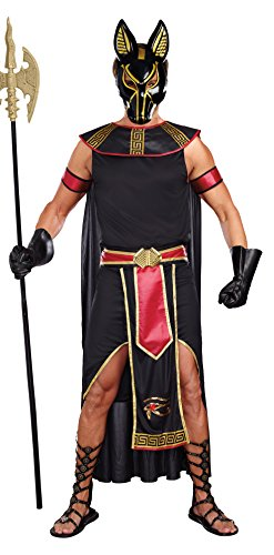 Dreamgirl Men's Anubis God Of The Underworld Costume, Black/Red, X-Large