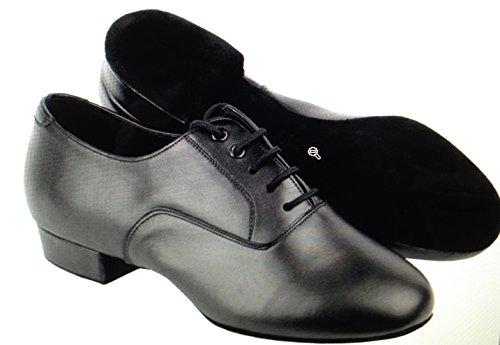 """Herren Ballroom Dance Schuhe von Very Fine C919101 mit Schuhputzer 1 """"Heel Schwarzes Leder"""