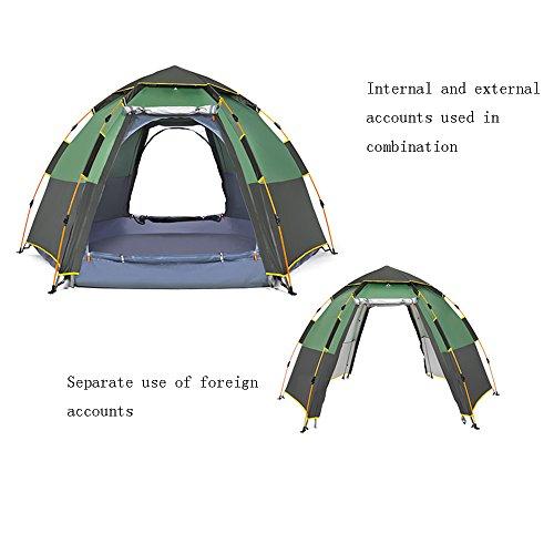 モーションロッカーサミットQFFL zhangpeng テントヘキサゴン自動増粘レインテントアウトドア5-6人キャンプテント野生キャンプ設備テント2色オプション トンネルテント ( 色 : B )