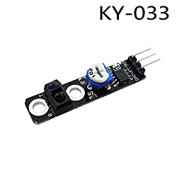 Fevas 10pcs/lot KY-033 3 pin Path Tracing Module Intelligent Vehicle Probe Infrared Detection Sensor DIY