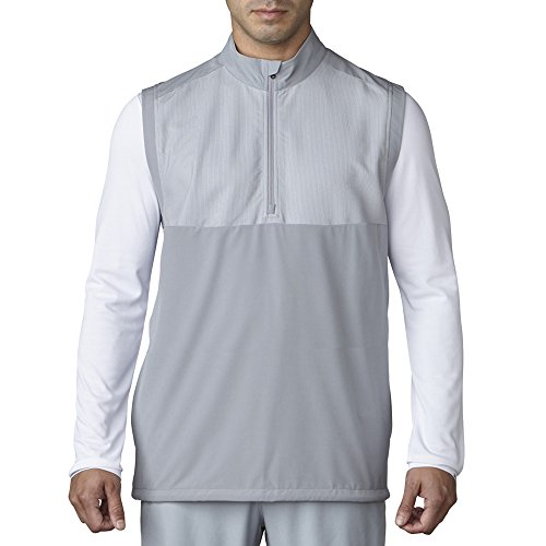 adidas Golf Men's Adi Competition Stretch Wind Vest, Mid Grey, Small