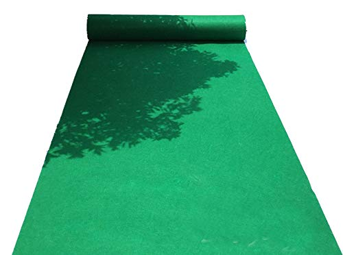HUAHOO Aisle Runners Wedding Accessories Glass Green Aisle Runner Carpet Rugs for Step and Repeat Display, Ceremony Parties and Events Indoor or Outdoor Decoration 59 Inch Wide x 30 feet Long