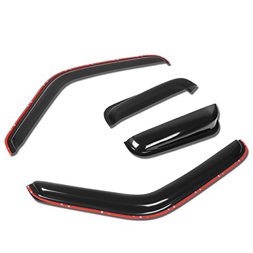 For Ford Ranger Extended Cab 4Pcs In Channel Side Window Visor Deflector Rain Guard