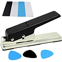 LotFancy DIY Guitar Pick Punch - Pick Maker Cutter for Personalized Unique Guitar Picks, with 4 Pick Strip Sheets