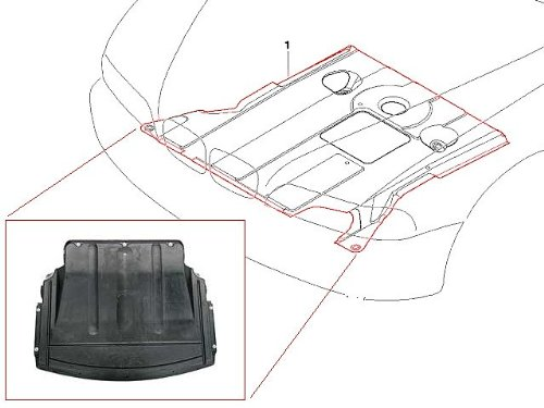 BMW e46 (01-06) undercar Engine Cover splash shield Belly Pan guard protection