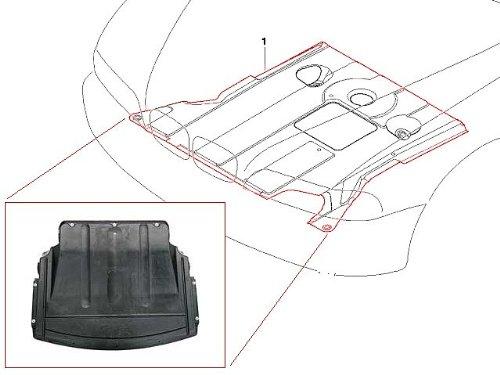 (BMW e46 (01-06) undercar Engine Cover splash shield Belly Pan guard)