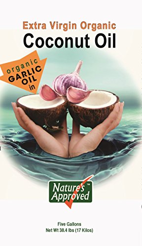 Organic Garlic Coconut Oil. Contains over 50% allicin. The Best Tasting Coconut Oil Certified Organic Extra Virgin Coconut Oil from the Beautiful Fiji Islands.(5 gal. Garlic) by Nature's Approved (Image #5)
