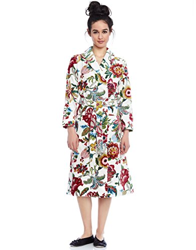 Be Relax Short Women's Short Terry Robe- Floral - XXLarge (Floral Terry Cloth)
