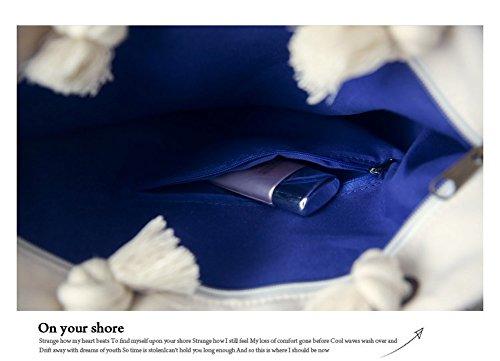 Cystyle Strandtasche mit Reißverschluss Damen Groß Shopper Fashion Tasche fuer Shopping, Strand, Wandern, Urlaub, Freizeit, Schultag Blumen