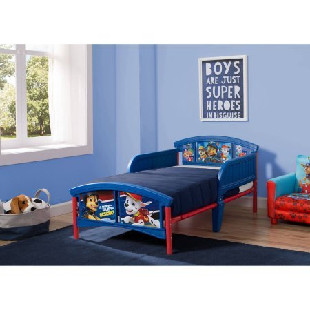 Nick Jr. PAW Patrol Nylon/Plastic Toddler Bed Features - Jardine Crib Conversion Kit
