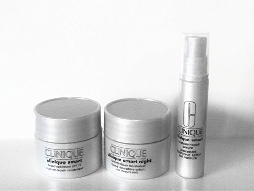 Clinique Smart Custom-repiar Trio Travel Set: Day moisturizer SPF15+ Night moisturizer+ Serum