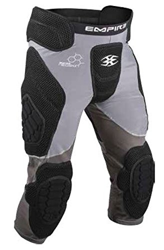 Empire Paintball Neoskin Slider Shorts w/Knee Pads - Black/Grey - Small
