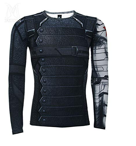 5f2185d506dc BFJ Men's Captain America Winter Soldier Cycling Quick Dry Long sleeve T- shirt: Amazon.ca: Clothing & Accessories