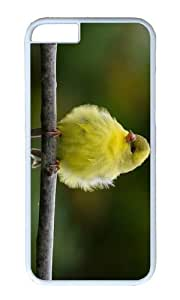 MOKSHOP Adorable fluffly bird Hard Case Protective Shell Cell Phone Cover For Apple Iphone 6 (4.7 Inch) - PC White by lolosakes