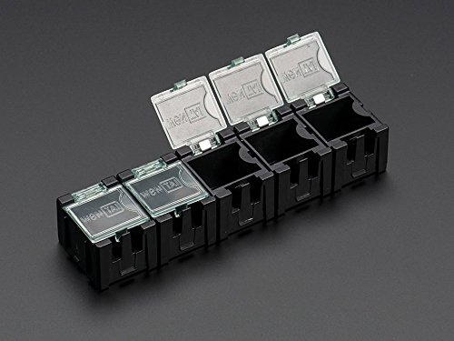 Anti Static Boxes - Adafruit Antistatic Modular Snap Boxes - SMD component storage - 5 pack - Antistatic [ADA430]