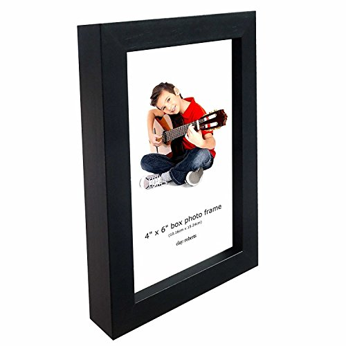 Wall and Table Top Photo Frame, 4 x 6 Inches, Standard Photograph Size, Black, 4x6 Picture - Frame Small Sizes