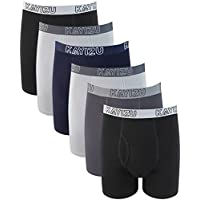 KAYIZU Brand Men's Underwear,Ultra Soft Cotton Classic Boxer Brief (6-Pack)