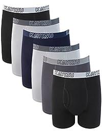 Men's Underwear,KAYIZU Brand Ultra Soft Cotton Classic Boxer Brief (6-Pack)