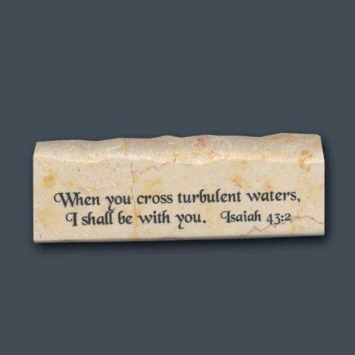 Isaiah 43:2 -Inspirational/Scripture Stone