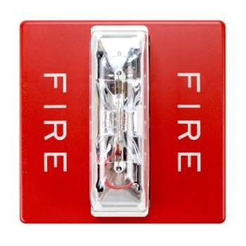 Cooper Wheelock RSS-241575W-FR 107471 Remote Sync Strobe Fire Alarm, Red For Sale