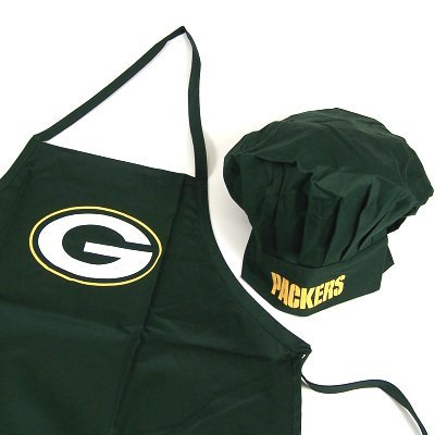 GREEN BAY PACKERS OFFICIAL LOGO CHEF'S HAT AND APRON by Pro Specialties Group