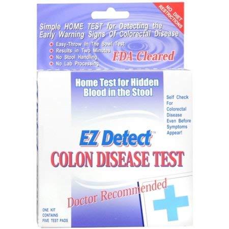 EZ Detect Colon Disease Test Kit - 5 Test Pads, Pack of 5 by EZ Detect