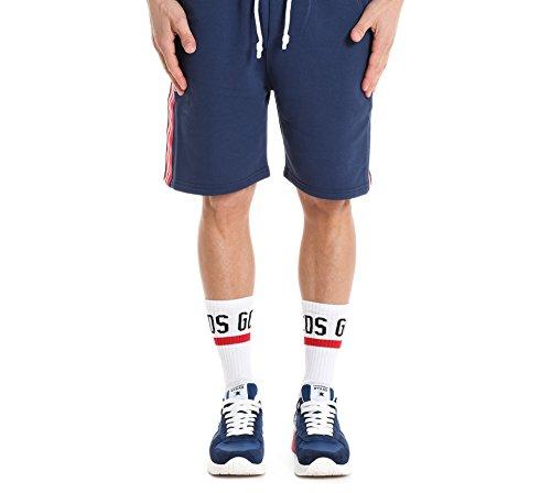 Gcds Ss18m03005808 Hombre Algodon Shorts Azul Pp7S1P