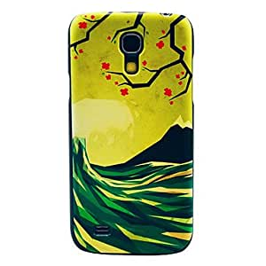 TOPQQ The Wave Flower Pattern Hard Back Cover Case for Samsung Galaxy S4 Mini I9190