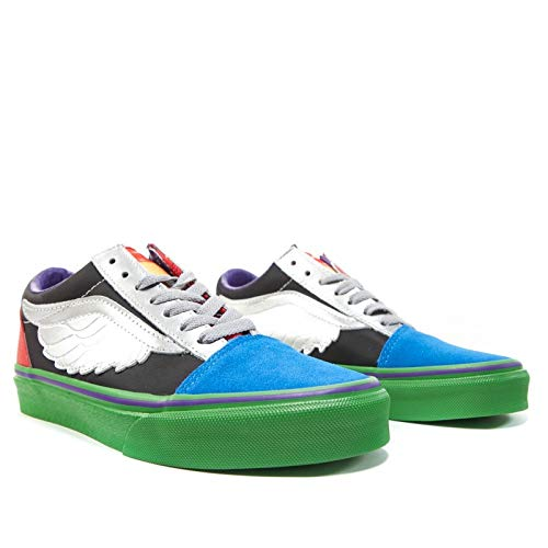 Vans Marvel Avengers Old Skool Sneaker (Toddler Shoes 7, Hulk/Checkerboard) -