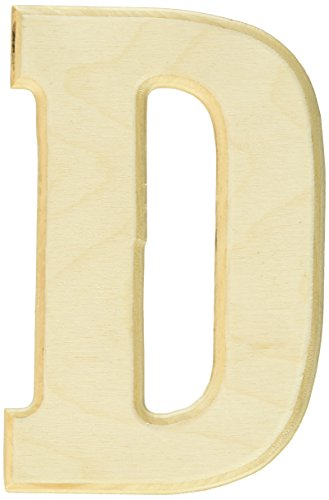(MPI Baltic Birch University Font Letters and Numbers, 5-Inch, Letter-D)