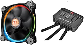 Thermaltake Riing 14 LED - Ventilador de 140 mm, Color Negro