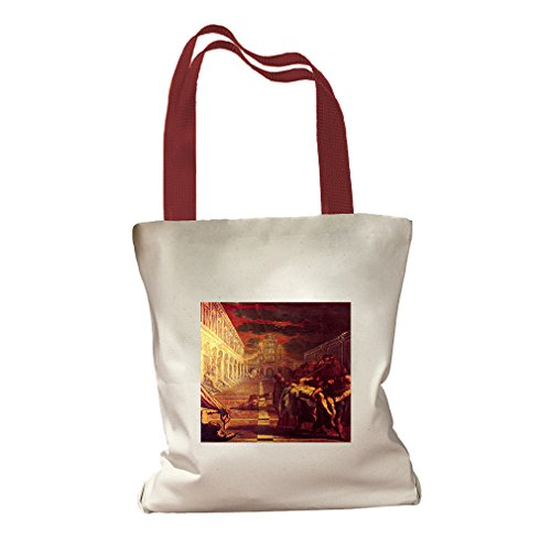 Clothing Salvage Red (Salvage Corpse Of St. Mark (Tintoretto) Canvas Colored Handles Tote - Red)