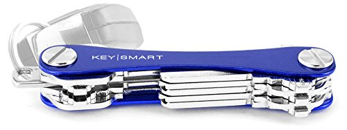 KeySmart - Compact Key Holder and Keychain Organizer (up to 14 Keys, Blue)