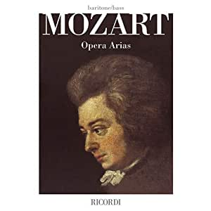 W.A. Mozart: Opera Arias - Baritone/Bass. Partituras para